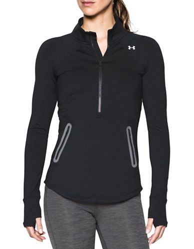 Under Armour ColdGear Reactor Half Zip Sweatshirt-BLACK-Small