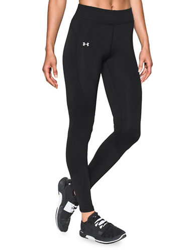 Under Armour ColdGear Reactor Breathable Athleisure Leggings-BLACK-Large 89718289_BLACK_Large