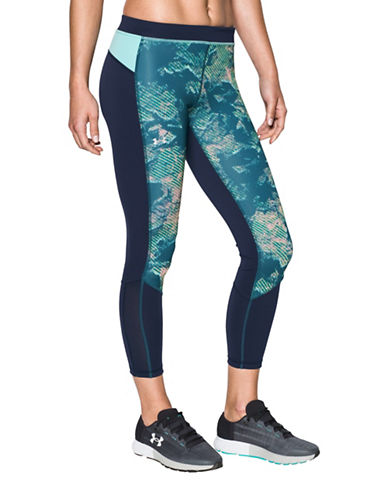 Under Armour HeatGear Reversible Ankle Pants-BLUE-Medium