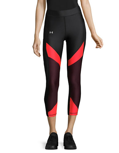 Under Armour Colourblocked Cropped Leggings-BLACK-X-Small 89609772_BLACK_X-Small