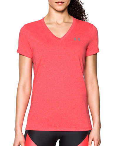 Under Armour Threadborne Train Twist Tee-RED-X-Large