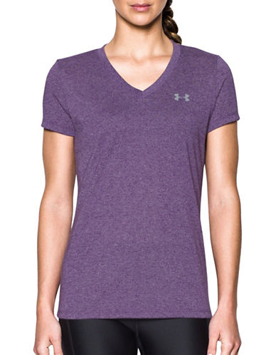 Under Armour Threadborne Train Twist T-Shirt-PURPLE-Large