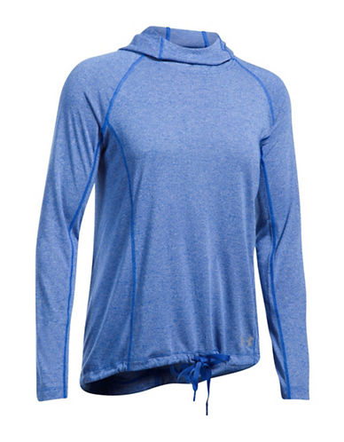 Under Armour Threadborne Train Hood-BLUE-Small
