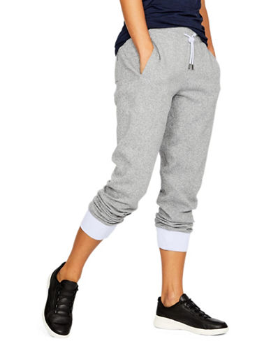 Under Armour Fleece Sweatpants-GREY-X-Large