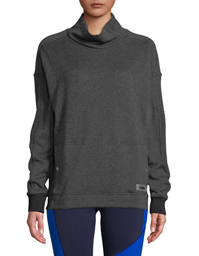 Under Armour Funnel Neck Fleece Sweater-GREY-Medium
