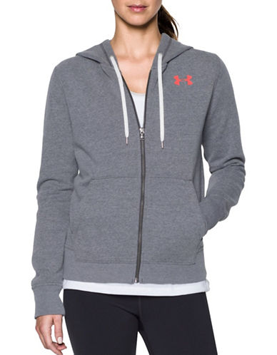 Under Armour Favourite Fleece Jacket-GREY-Medium