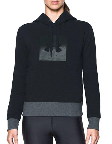 Under Armour Threadborne Fleece Graphic Hoodie-BLACK-Large