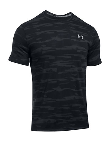 Under Armour Threadborne Printed Shirt-BLACK-Large