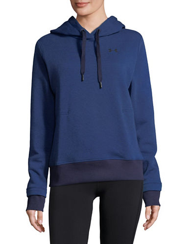 Under Armour Threadborne Pullover Hoodie-BLUE-Large