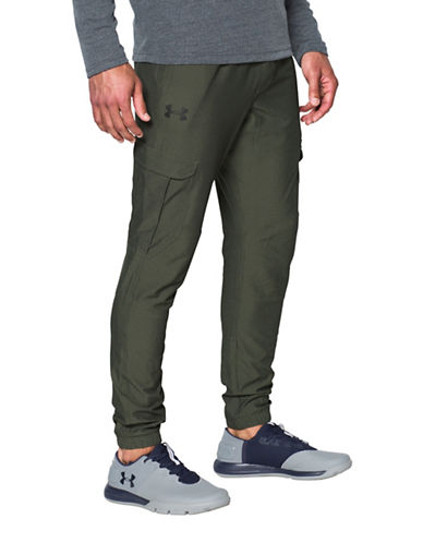 Under Armour Tapered Leg Cargo Pants-GREEN-Medium