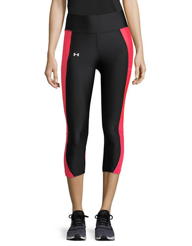 Under Armour Contrasting Logo Leggings-BLACK-Small 89609805_BLACK_Small