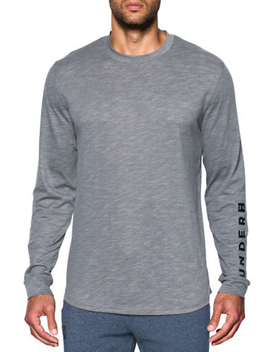 Under Armour Sportstyle Cotton Graphic Tee-GREY-X-Large