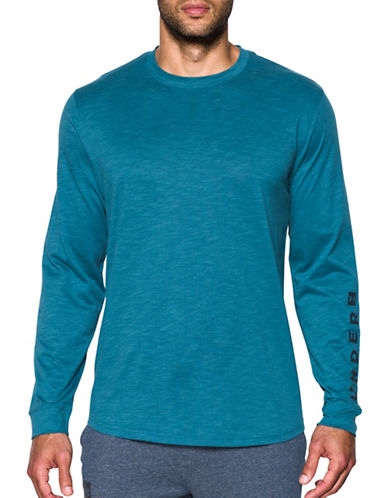 Under Armour Sportstyle Cotton Graphic Tee-BLUE-Small