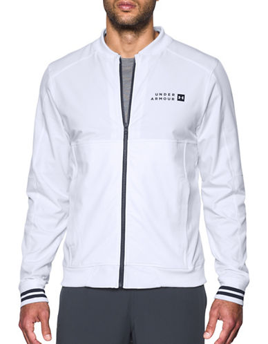 Under Armour Sportstyle Woven Bomber Jacket-WHITE-XX-Large