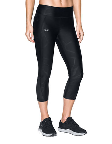Under Armour Fly-By Abstract Print Capris-BLACK-Large 89327379_BLACK_Large
