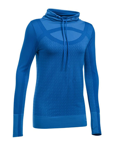 Under Armour Threadborne Seamless Sweatshirt-BLUE-Large