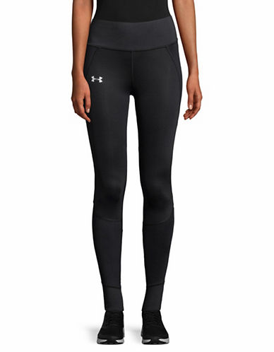 Under Armour Pull-On Running Tights-BLACK-Large
