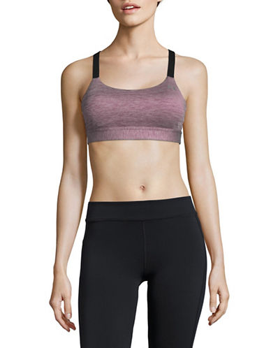 Under Armour Eclipse Heather Sports Bra-RED-Large