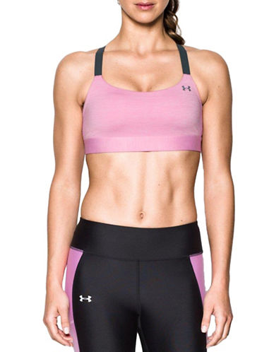 Under Armour Crisscross Back Sports Bra-PINK-Medium 89718273_PINK_Medium