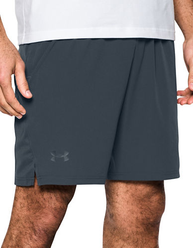 Under Armour Cage Shorts-BAYOU BLUE-Small