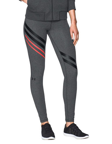 Under Armour Striped Fitted Tights-GREY-X-Large