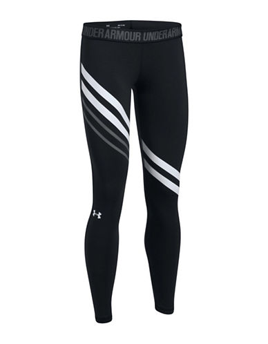 Under Armour Favorite Engineered Leggings-BLACK-X-Large