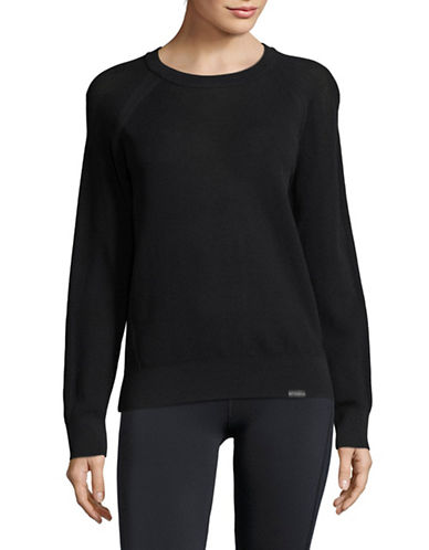 Under Armour Crew Neck Sweater-BLACK-Medium