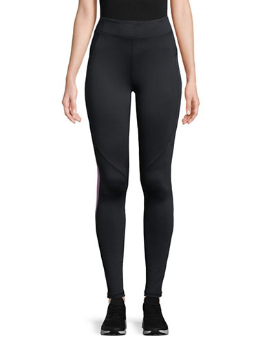 Under Armour Graphic Panel Leggings-BLACK-X-Large