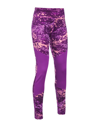 Under Armour ColdGear Printed Leggings-PURPLE-X-Small 89638432_PURPLE_X-Small