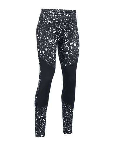 Under Armour ColdGear Printed Leggings-BLACK-Large 89638440_BLACK_Large
