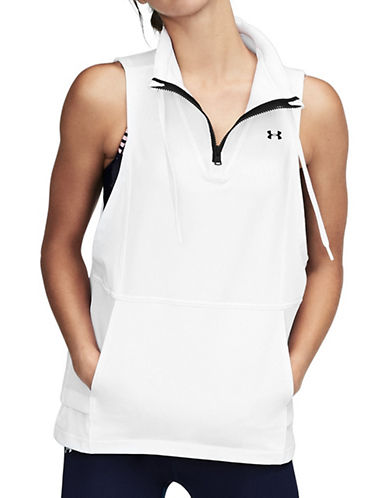 Under Armour Mixed Media Woven Vest-WHITE-X-Large