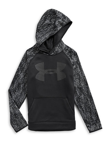Under Armour Digital Logo Hoodie-BLACK-X-Large