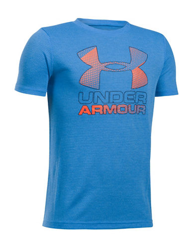Under Armour UA Hybrid Big Logo Tee-BLUE-Medium 89245094_BLUE_Medium