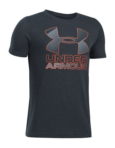Under Armour UA Hybrid Big Logo Tee-GREY-Medium