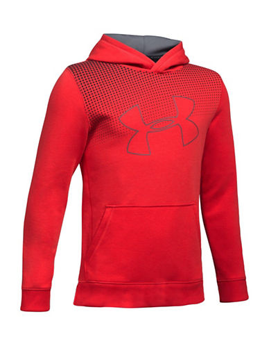 Under Armour Threadborne Tilt Fleece Hoodie-RED-X-Large