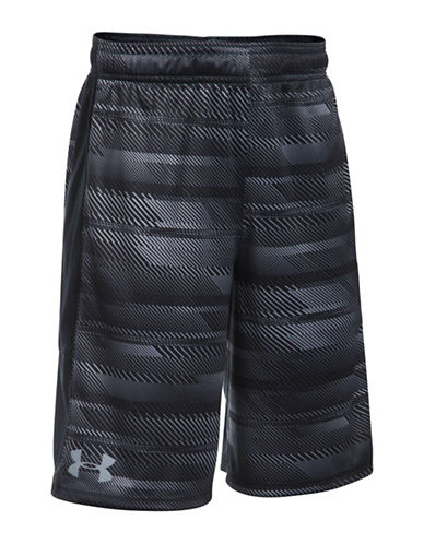 Under Armour UA Stunt Printed Shorts-BLACK-Small