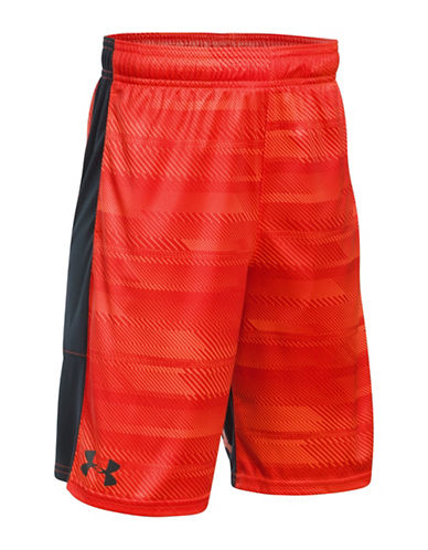 Under Armour UA Stunt Printed Shorts-ORANGE-X-Large