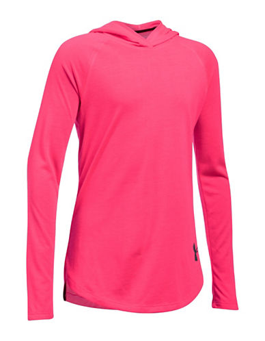 Under Armour Threadborne Siro Hoodie-PINK-Medium