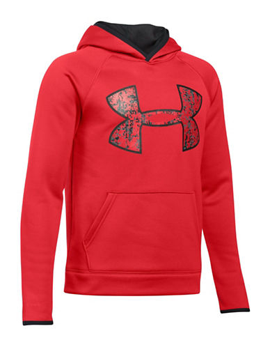 Under Armour Sporty Logo Hoodie-RED-X-Large
