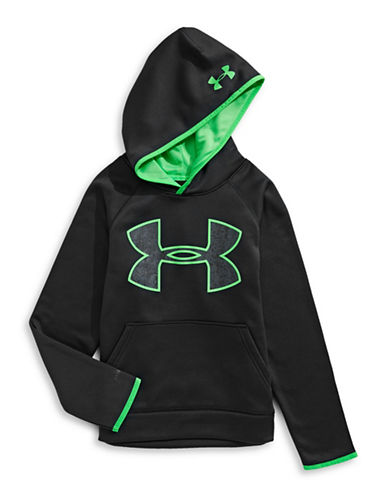 Under Armour Contrast Logo Hoodie-BLACK-Medium