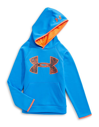 Under Armour Contrast Logo Hoodie-BLUE-Medium
