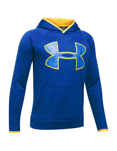 Under Armour Sporty Logo Hoodie-BLUE-Small