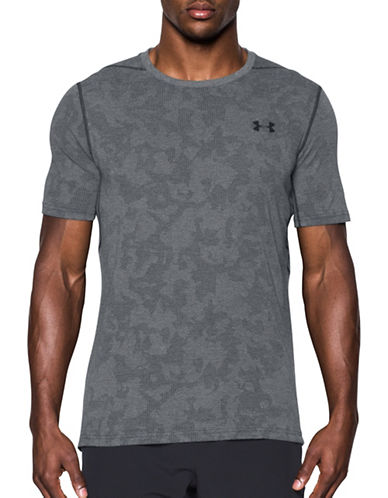 Under Armour Threadborne Elite Fitted T-Shirt-BLACK-Small