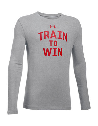 Under Armour Train To Win Long-Sleeve Tee-GREY-14-16