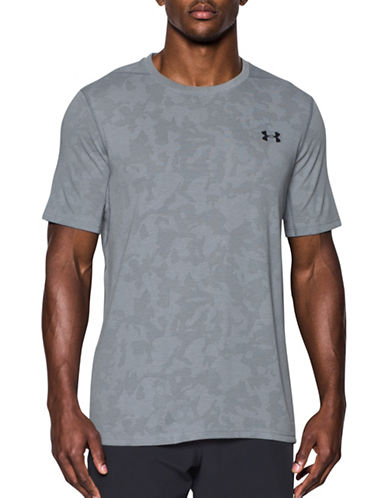 Under Armour Threadborne Elite Fitted T-Shirt-GREY-XX-Large