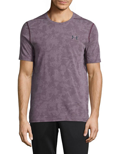 Under Armour Round Neck Logo Tee-RED-X-Large