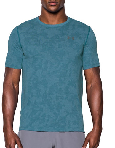 Under Armour Threadborne Elite Fitted T-Shirt-BLUE-Small