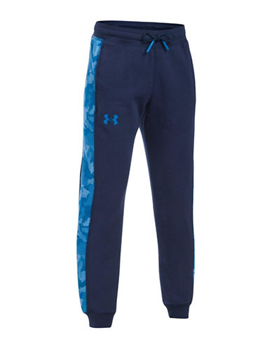Under Armour Threadborne Printed Fleece Jogger Pants-BLUE-Medium