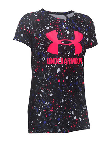 Under Armour Novelty Big Logo T-Shirt-BLACK-Small