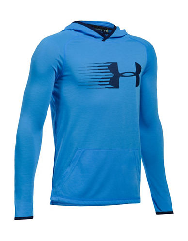 Under Armour UA Threadborne Siro Heathered Hoodie-BLUE-Medium